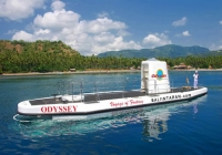 Underwater excursion trip at dept of 150 feet with the sophisticated vessel Odyssey Submarine