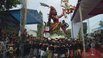 Bali is preparing for  the New year celebration  Nyepi and the Ogoh-Ogoh Parade